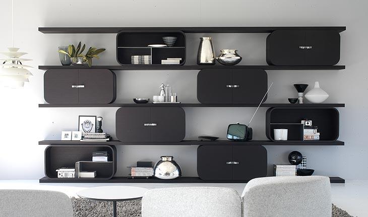 Living Room Shelving Units<br> : Prateleiras, Nichos e Estantes – Blog Soline