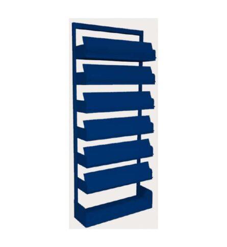 estante-aco-revistas-6-prateleiras-azul