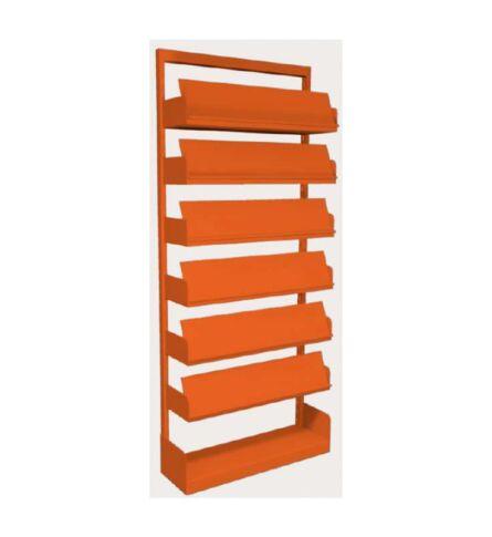 estante-aco-revistas-6-prateleiras-laranja