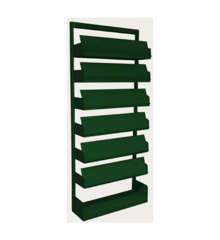 estante-aco-revistas-6-prateleiras-verde