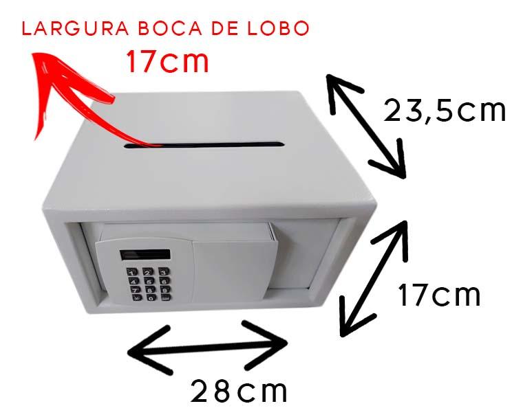 Cofre Digital Boca de Lobo SS555BL, Cofre Digital Boca de Lobo SS555BL