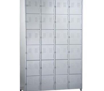 Guarda-volumes de aço 24 portas e 4 colunas