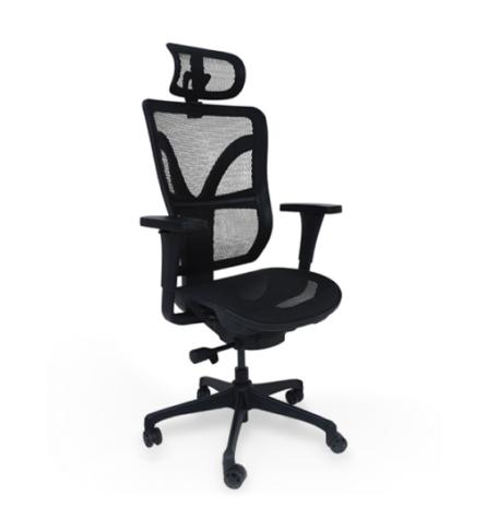 cadeira airys com encosto e assento em tela