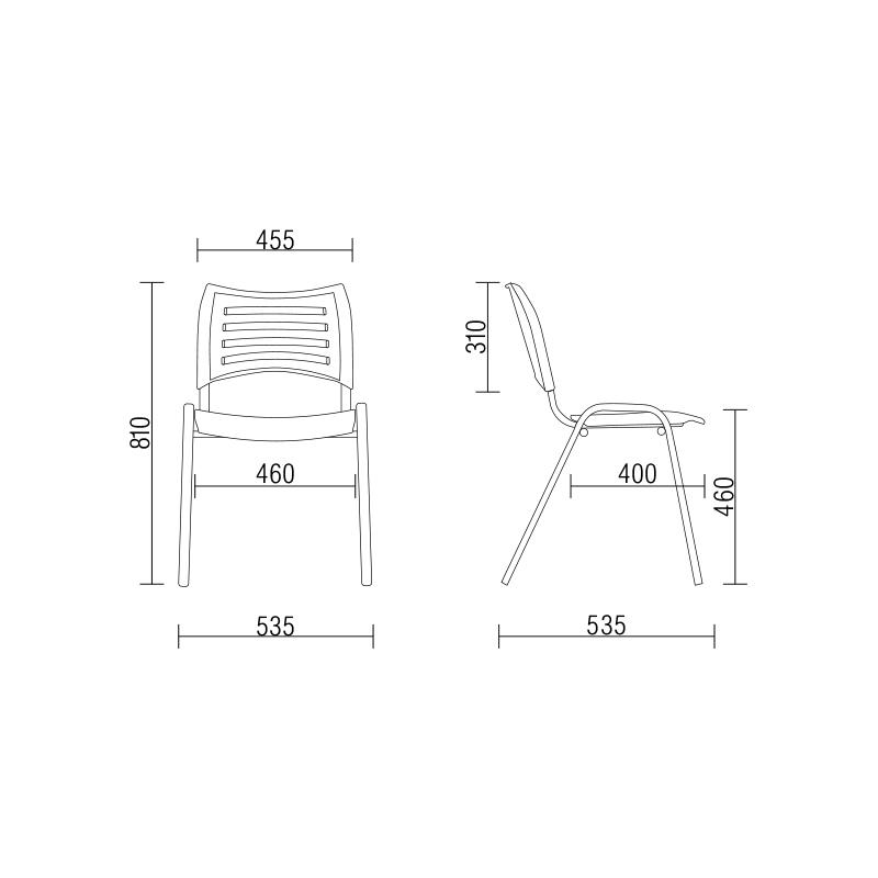 , Cadeira Plástica ISO