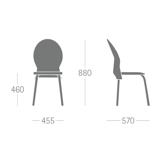 , Cadeira Plástica Luna Frisokar para Recepção e Visitas