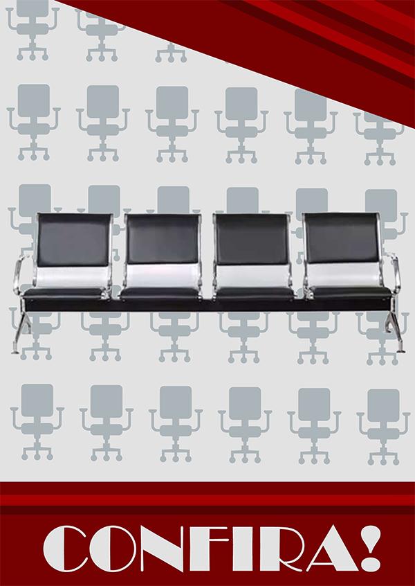 cadeira longarina 4 assentos