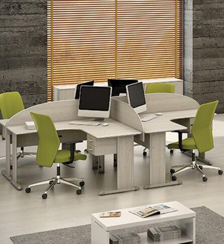 Estação de trabalho modular para escritórios e home office com 14 opções de cores.