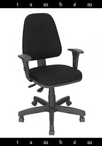cadeira presidente com braço botão