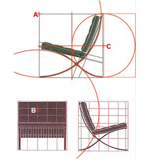 Poltrona Barcelona Geometria