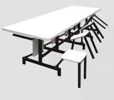 Mesa para Refeitório Escamoteavel 8 lugares