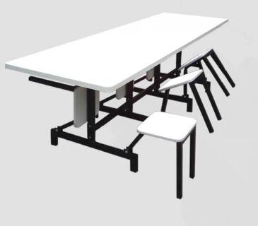 Mesa para Refeitório Escamoteável 6 lugares