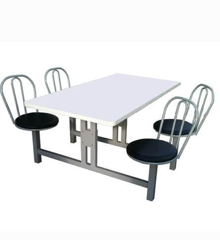 Mesa para Refeitório com cadeiras giratórias 4 lugares