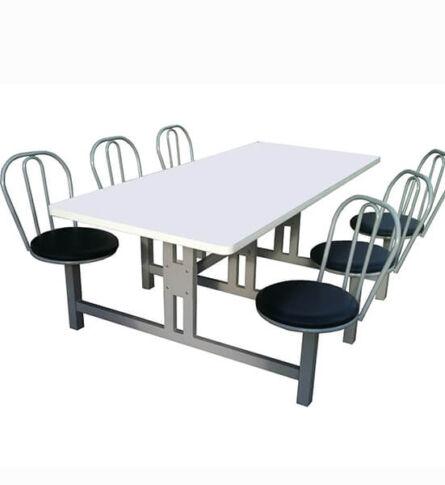 Mesa para Refeitório com Cadeiras Giratórias 6 lugares