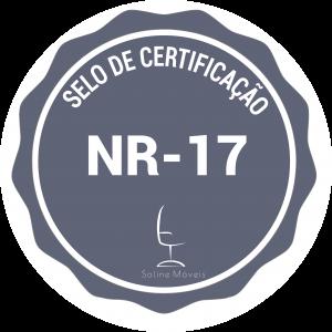 Selo de certificação de qualidade ergonôminca NR-17