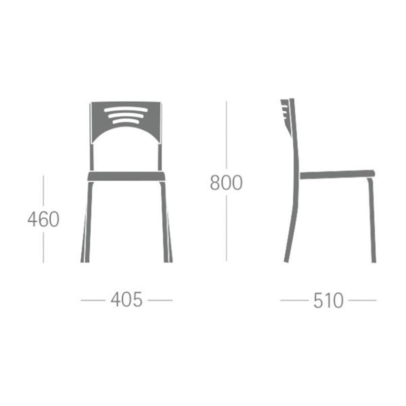 , Cadeira Plástica Bliss – Frisokar