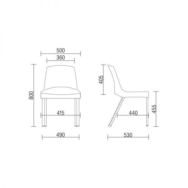 , Cadeira Plástica Shine – Frisokar