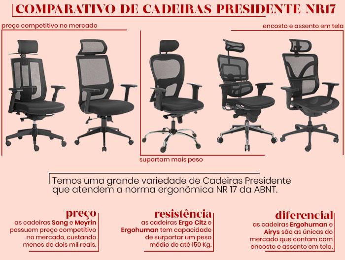 , Cadeira Presidente Ergo Citz NR17