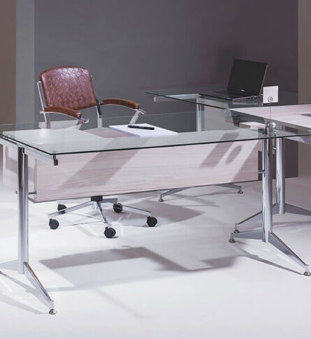 mesa escritório tampo de vidro