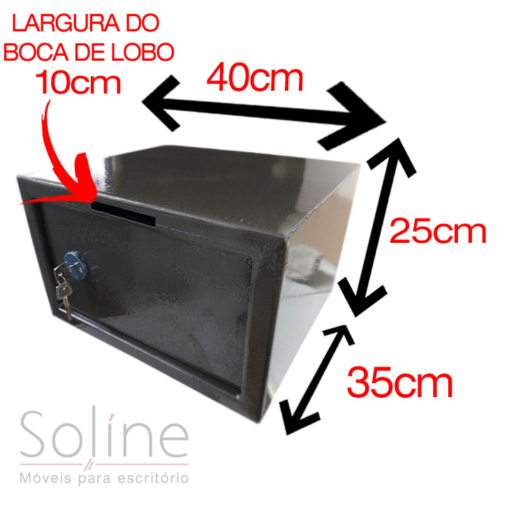 Cofre Mecânico Box 300 com boca de lobo, Cofre Mecânico Box 300 com boca de lobo