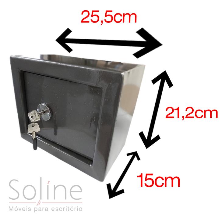 Cofre Mecânico Mini Box sem Boca de Lobo, Cofre Mecânico Mini Box sem Boca de Lobo