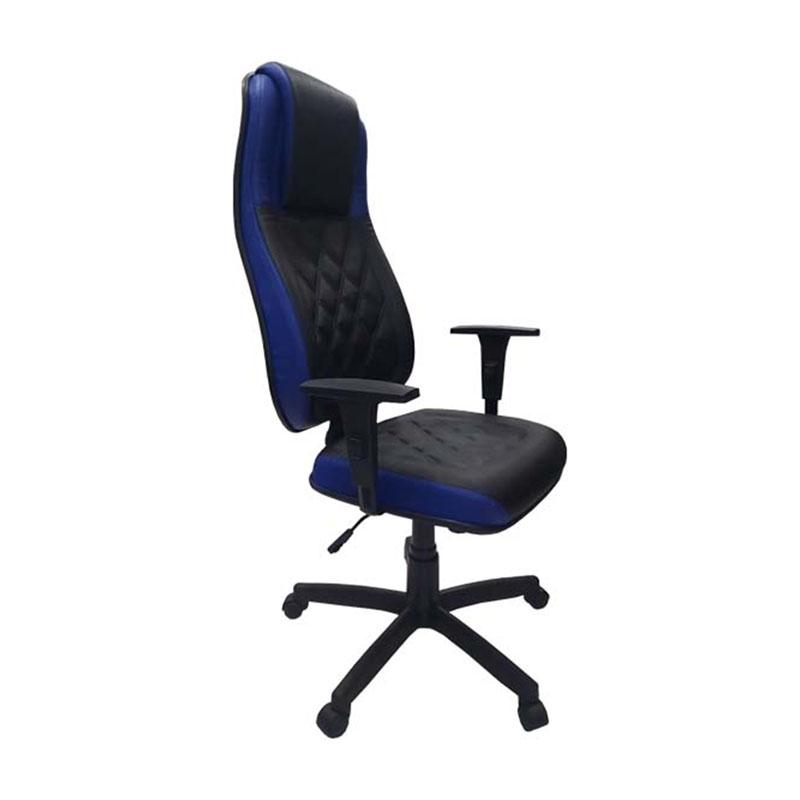 Cadeira Presidente Monza Azul com Preto
