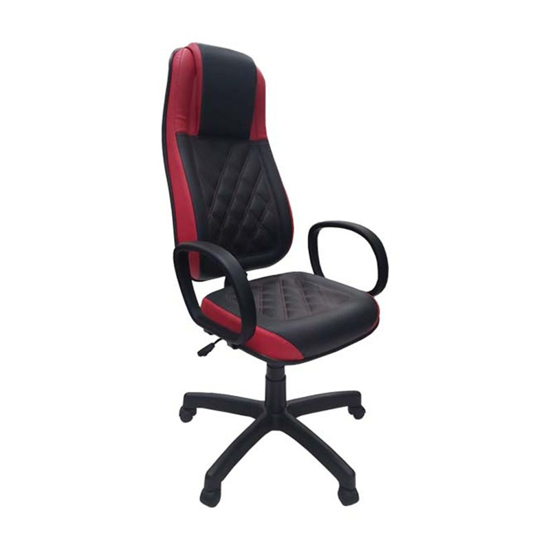 Cadeira Presidente Monza Vermelho com Preto