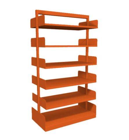 estante-aco-biblioteca-dupla-10-prateleiras-laranja