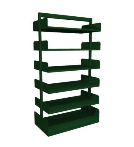 estante-aco-biblioteca-dupla-10-prateleiras-verde