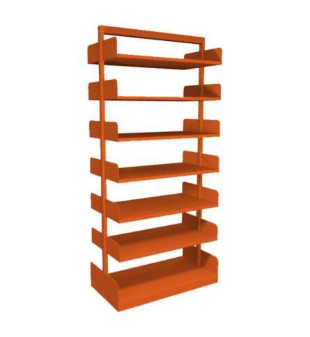estante-aco-biblioteca-dupla-12-prateleiras-laranja
