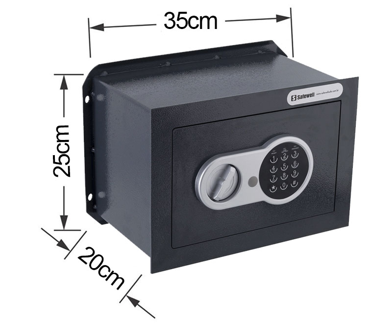Cofre digital embutir, Cofre digital para embutir 25BWK